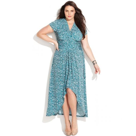 Michael Kors plus size Printed Faux Wrap dress 20W